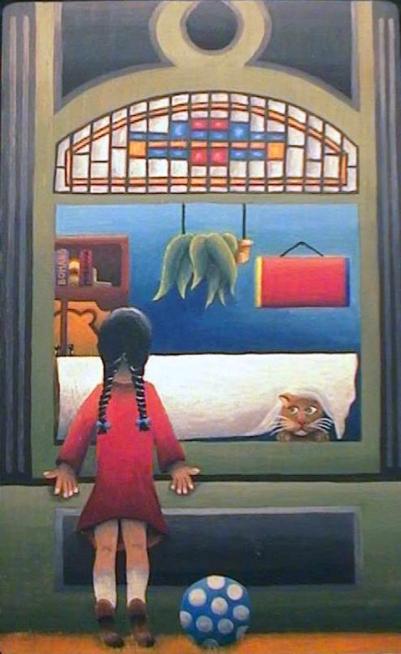 Schilderij raam Peer Haemers