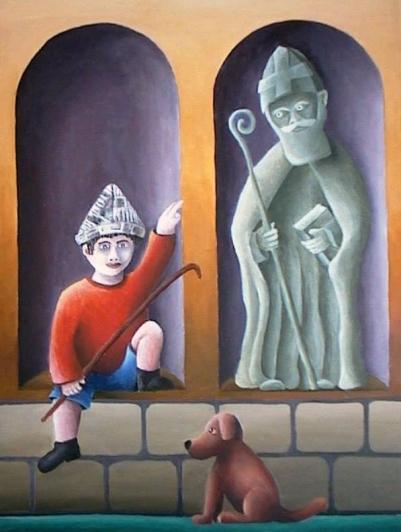 Schilderij Sinterklaas Peer Haemers